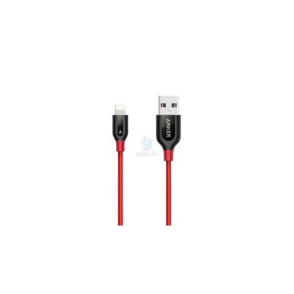 Anker PowerLine+ Lightning Red 0.9m (A8121091)