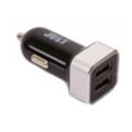 Зарядные устройства для мобильных телефонов и планшетовJust Evo Trio USB Car Charger (6.3A/31W, 3USB) Black/Silver (CCHRGR-V-BLCK)