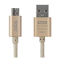Toto TKG-07 Plastic Braided USB cable microUSB 1m Gold