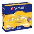 Диски CD, DVD, Blu-rayVerbatim DVD+RW 4,7GB 4x Slim Case 5шт (43297)
