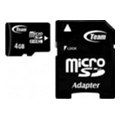 Карты памяти TEAM 4 GB microSDHC Class 10 + SD Adapter TUSDH4GCL1003