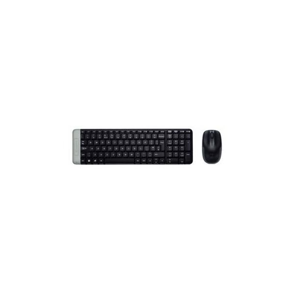 Logitech Wireless Combo MK220 Black-Silver USB