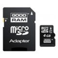 Карты памяти GoodRAM 4 GB microSDHC class 4 + SD Adapter M40A-0040R11