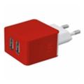 Зарядные устройства для мобильных телефонов и планшетовTrust REVOLT DUAL SMART WALL CHARGER (RED) (20149)