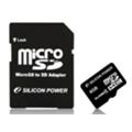 Карты памятиSilicon Power 8 GB microSDHC Class 4 + SD adapter