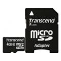 Карты памятиTranscend 4 GB microSDHC class 10 + SD Adapter TS4GUSDHC10