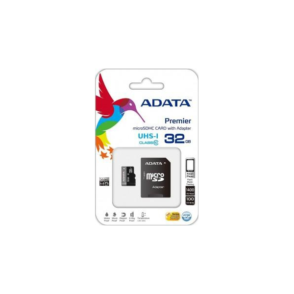 A-data 32 GB microSDHC UHS-I + SD adapter Premier AUSDH32GUICL10-RA1