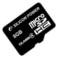 Карты памяти Silicon Power 8 GB microSDHC Class 4 SP008GBSTH004V10
