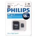 Philips 16 GB microSDHC class 10 + SD Adapter FM16MA45B/97