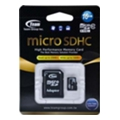 Карты памяти TEAM 16 GB microSDHC Class 10 + SD Adapter TUSDH16GCL1003