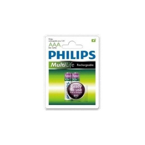 Philips AAA 800mAh NiMh 2шт MultiLife Ready to Use (R03B2RTU8/97)