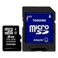 Карты памятиToshiba 8 GB microSDHC class 4 + SD adapter