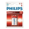 Philips Krona bat Alkaline 1шт PowerLife (6LR61P1B)