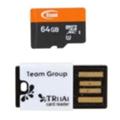 Карты памятиTEAM 64 GB microSDXC Class 10 UHS-I + Reader TUSDX64GUHS29
