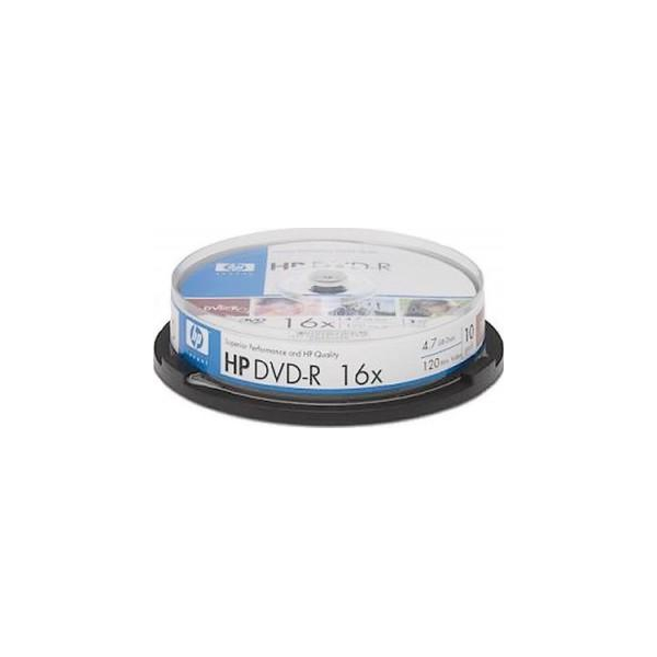 HP DVD-R 4,7GB 16x Cake Box 10шт (DME00026)