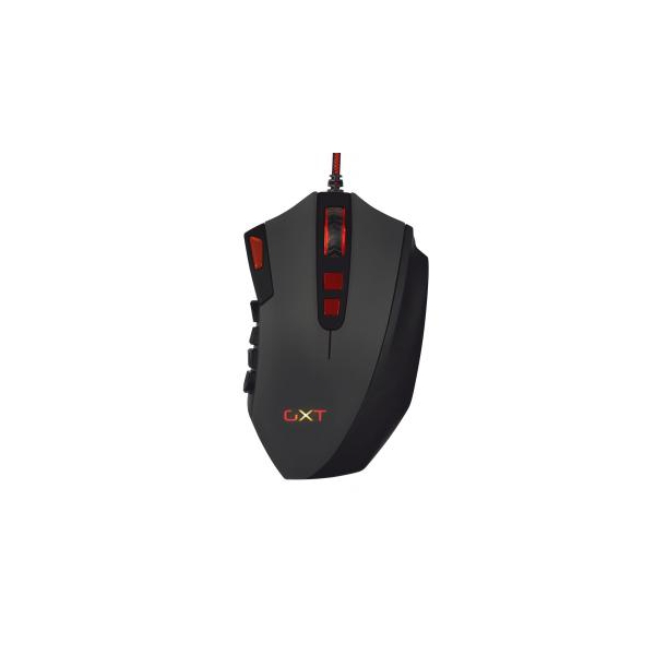 Trust GXT 166 Mmo gaming laser mouse Black USB