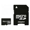 Карты памятиExceleram 64 GB microSDXC class 10 + SD Adapter MSD6410A