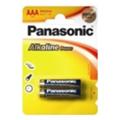 Аккумуляторы, батарейкиPanasonic AAA bat Alkaline 2шт Alkaline Power (LR03REB/2BP)