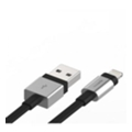 Аксессуары для планшетов Innerexile Zynk Flat USB Cable with Lightning Connector Silver/Black 1m (LC-004-001)