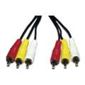 Аудио- и видео кабелиAtcom 3RCA to 3RCA 1.8m
