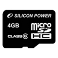 Карты памяти Silicon Power 4 GB microSDHC Class 6