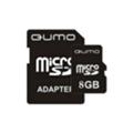 Карты памятиQumo 8 GB microSDHC + SD adapter