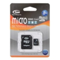 Карты памяти TEAM 8 GB microSDHC Class 4 + SD Adapter