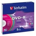 Диски CD, DVD, Blu-rayVerbatim DVD+R 4,7GB 16x Slim Case 5шт (43556)