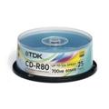 Диски CD, DVD, Blu-rayTDK CD-R 700MB 52x Cake Box 25шт