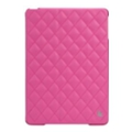 Jisoncase Quilted Leather Smart Case for iPad Air Rose Red JS-ID5-02H33