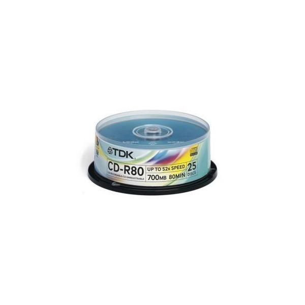 TDK CD-R 700MB 52x Cake Box 25шт