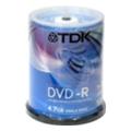 Диски CD, DVD, Blu-rayTDK DVD-R 4,7GB 16x Cake Box 100шт