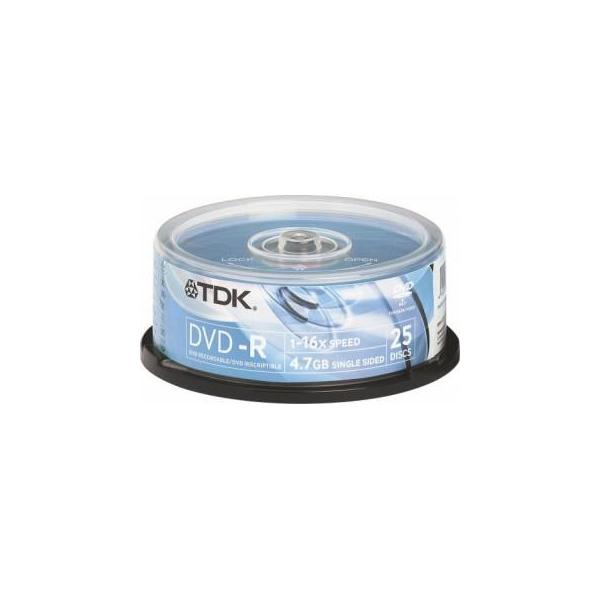 TDK DVD-R 4,7GB 16x Cake Box 25шт