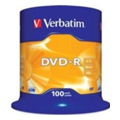 Verbatim DVD-R 4,7GB 16x Spindle Packaging 100шт (43549)