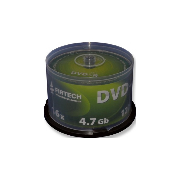 Firtech DVD-R 4,7GB 16x Cake Box 50шт Mate Silver (90030)