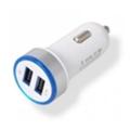 Зарядные устройства для мобильных телефонов и планшетовDrobak Автомобильное зарядное устройство Power Dual USB White (905310)