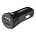 Зарядные устройства для мобильных телефонов и планшетовTrust 20W Car Charger with 2 USB port Black (20572)