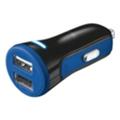 Зарядные устройства для мобильных телефонов и планшетовTrust 20W Car Charger with 2 USB port Blue (20741)