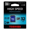 Toshiba 32 GB microSDHC Class 10 UHS-I + SD adapter SD-C032UHS1