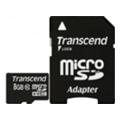 Карты памятиTranscend 8 GB microSDHC class 10 + SD Adapter TS8GUSDHC10