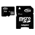 Карты памяти TEAM 8 GB microSDHC Class 10 + SD Adapter TUSDH8GCL1003