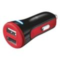Зарядные устройства для мобильных телефонов и планшетовTrust 20W Car Charger with 2 USB port Red (20742)