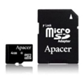 Карты памятиApacer 4 GB microSDHC Class 4 + SD adapter AP4GMCSH5-R