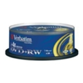 Verbatim DVD+RW 4,7GB 4x Spindle Packaging 25шт (43489)