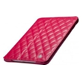 Jisoncase Quilted Leather Smart Case for iPad Mini Rose
