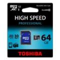 Toshiba 64 GB microSDXC Class 10 UHS-I + SD adapter SD-C064UHS1