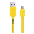 Аксессуары для планшетовREMAX Fishbone microUSB Cable 1m Yellow