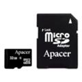Карты памятиApacer 32 GB microSDHC Class 4 + SD adapter AP32GMCSH4-R