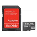Карты памятиSanDisk 8 GB microSDHC + SD adapter (SDSDQM-008G-B35A)