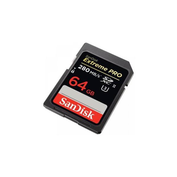 SanDisk 64 GB Extreme PRO 4K SDXC UHS-II U3 SDSDXPB-064G-G46